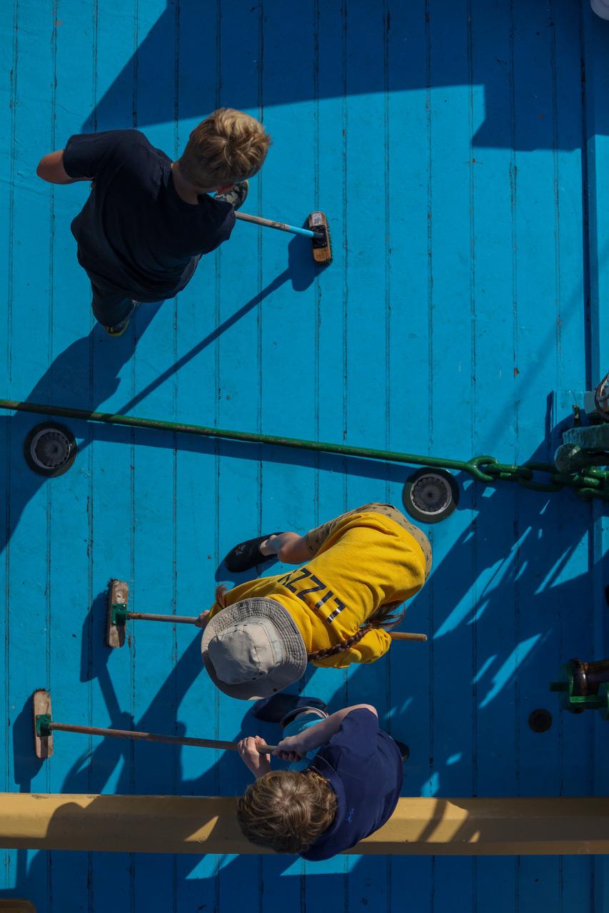 Scrubbing the decks