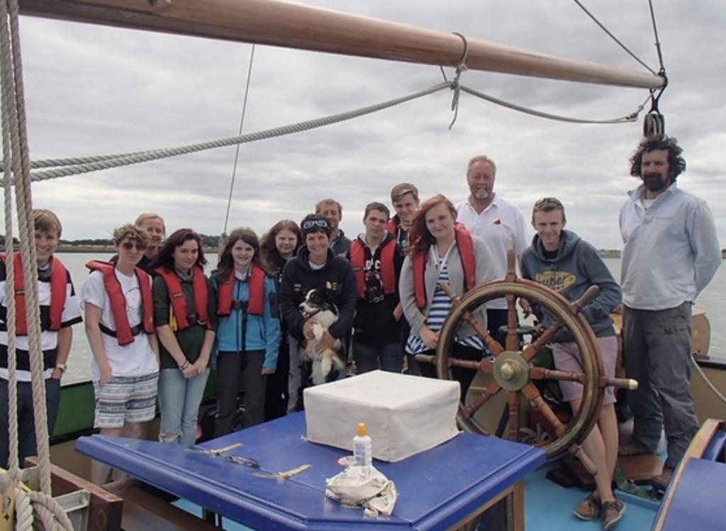 Dame Ellen MacArthur and the EMCT sail on Thalatta